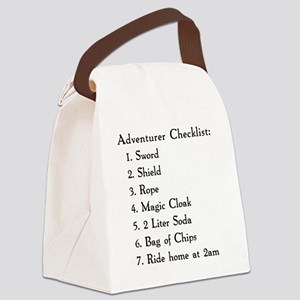 Adventurer Checklist (Black Lette Canvas Lunch Bag