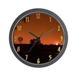 Farm Sunset #1 Wall Clock