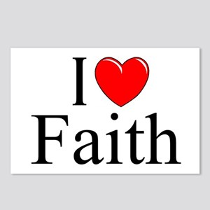 """I Love (Heart) Faith"" Postcards (Package of 8)"