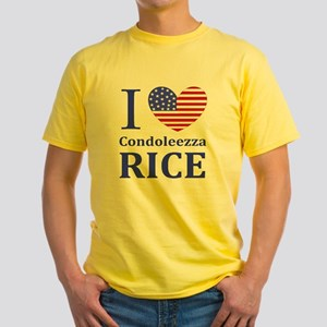 RICE I LOVEDBUTTONLL Yellow T-Shirt