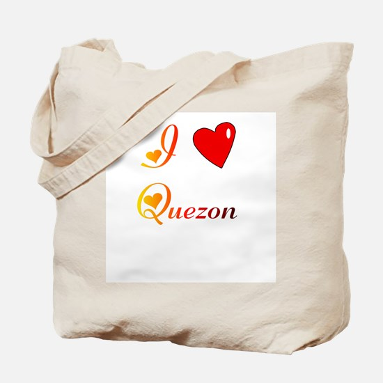 I Love Quezon Gifts Tote Bag