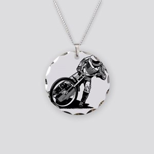 Speedway Necklace Circle Charm