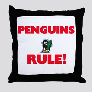 Penguins Rule! Throw Pillow