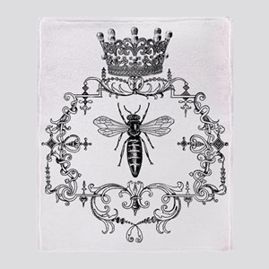 Vintage Queen Bee Throw Blanket