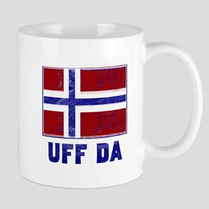 Uff Da Norway Flag Large Mugs