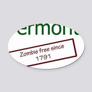 vermont zombie free since 1791 Oval Car Magnet