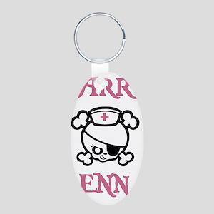 Dolly-Arr-Enn-STKR Aluminum Oval Keychain