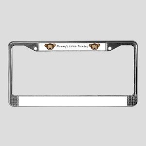 Mommys Little Monkey License Plate Frame