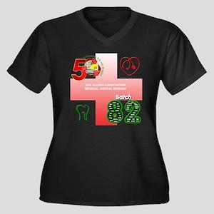 meddent Women's Plus Size Dark V-Neck T-Shirt