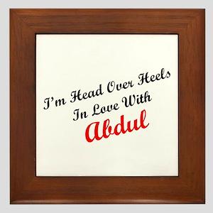In Love with Abdul Framed Tile