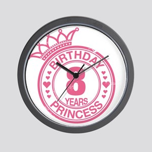 Birthday Princess 8 years Wall Clock