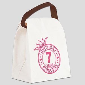 Birthday Princess 7 years Canvas Lunch Bag