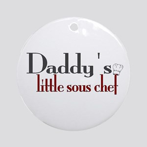 Daddy's Sous Chef Ornament (Round)