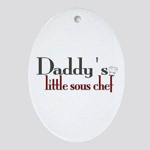 Daddy's Sous Chef Ornament (Oval)