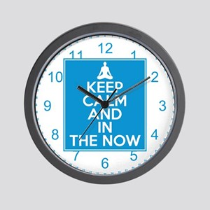 Keep Calm and In the Now Wall Clock