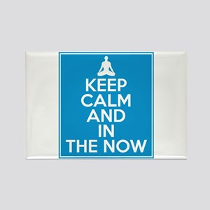 Keep Calm and In the Now Rectangle Magnet