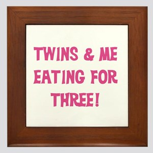 Expecting Twins Framed Tile