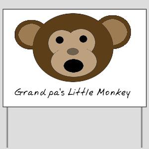 Grandpas Little Monkey Yard Sign