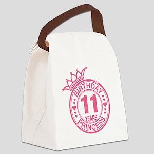 Birthday Princess 11 years Canvas Lunch Bag