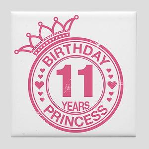 Birthday Princess 11 years Tile Coaster
