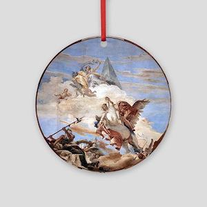 Bellerophon on Pegasus Round Ornament
