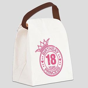 Birthday Princess 18 years Canvas Lunch Bag