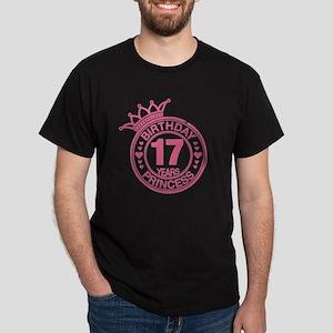 Birthday Princess 17 years Dark T-Shirt