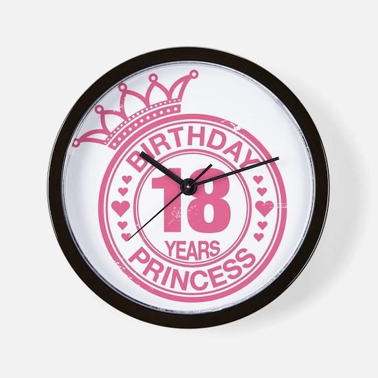 Birthday Princess 18 years Wall Clock