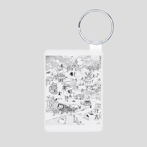 Icons of Horror Aluminum Photo Keychain