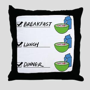 A Nutritionally Balanced Diet - Cerea Throw Pillow