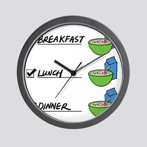 A Nutritionally Balanced Diet - Cereal  Wall Clock