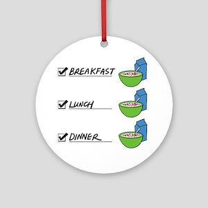 A Nutritionally Balanced Diet - Cer Round Ornament