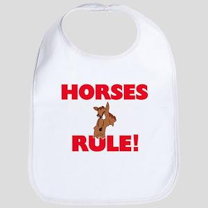 Horses Rule! Baby Bib
