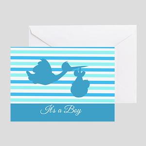 It's a Boy Blue Stork Greeting Card