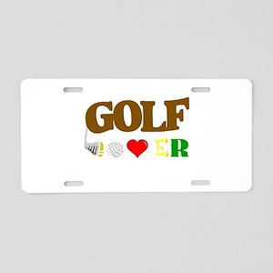 golf lover Aluminum License Plate