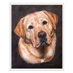 Yellow Lab Painting Small Poster