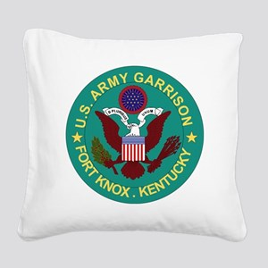 Fort Knox Square Canvas Pillow