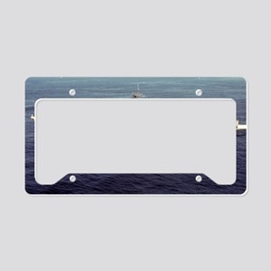 uss schenectady large framed  License Plate Holder