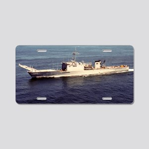 uss schenectady large frame Aluminum License Plate