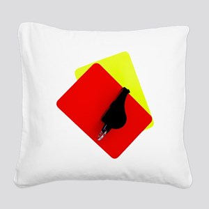 red and yellow card Square Canvas Pillow