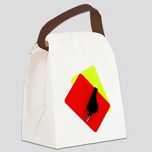 red and yellow card Canvas Lunch Bag