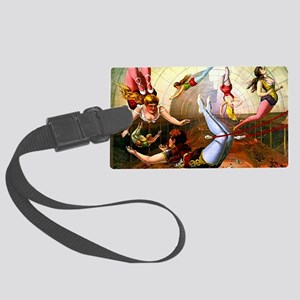 Vintage Flying Trapeze Ladies Ci Large Luggage Tag