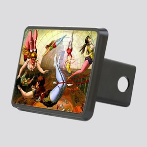 Vintage Flying Trapeze Lad Rectangular Hitch Cover