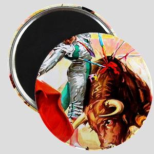 Vintage Mexico Bull Fighter Bullfight Poste Magnet