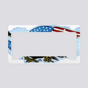 Vintage USA Patriotic America License Plate Holder