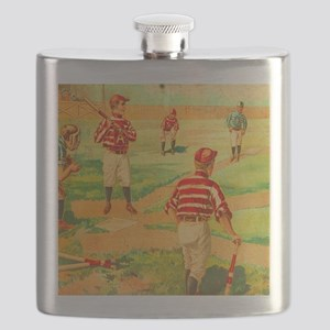 Vintage Sports Baseball Board Game Box Aged  Flask