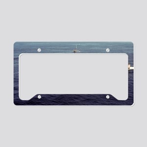 uss schenectady framed panel  License Plate Holder