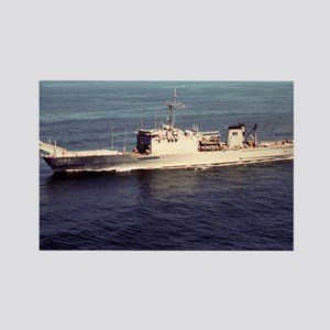 uss schenectady framed panel prin Rectangle Magnet