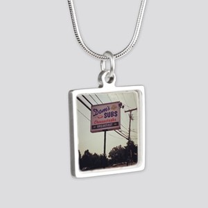 Dom's Subs Silver Square Necklace