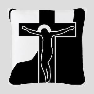 00001_Cross Woven Throw Pillow